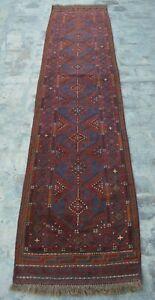 F3098 Handmade Afghan Tribal Wool Mishwani Hallway Rug Runner 2' x 8'9 Feet