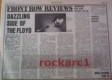 PINK FLOYD EARLS COURT  1973  concert review UK ARTICLE / clipping