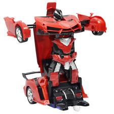 Kinder RC Spielzeug Fernbedienung Auto Roboter mit Motor Sound rot