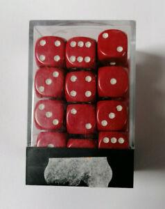 36 Dadi Für Spiele Von Rolle E Karten Rot Weiß Größe 12x12mm Magic