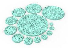 Round bases dark city set 1 usables pour warhammer 40k, warmachine, Star wars