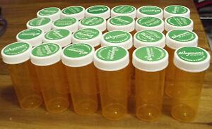 Lot of 24 Prescription Bottles - clean, safety caps, for crafts - pill bottles