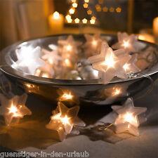 Tolle Lichterkette STERNE Led Lämpchen Weihnachten Deko Weihnachtsdeko