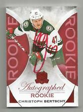 15/16 UD THE CUP CHRISTOPH BERTSCHY RED ROOKIE AUTO RC SSP #D 1/8