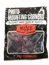 Vintage NuAce Photo/Scrapbook Mounting Corners - Black