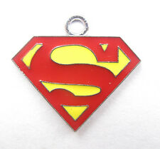 20pcs Superman logo Metal Charms pendants DIY Jewellery Making crafts 30mm
