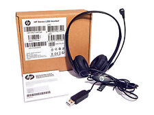 HP Stereo USB Headset With Microphone New T1A67AA