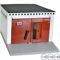 Garage for Diecast Cars Scale 1:32 1:36 1:43 Parking Building Toy with Open Door