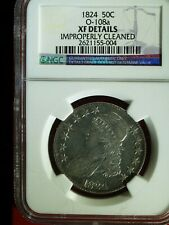 1824 U.S. Bust Half Dollar O-108a - XF details, improperly cleaned (NGC)
