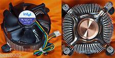 VENTILADOR 7 palas + DISIPADOR original Intel socket 775 nucleo cobre - QUAD DUO
