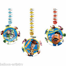 3 Disney Pixar Toy Story Children's Party Dangling Foil Cutouts Decorations