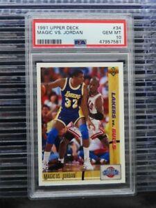 1991-92 Upper Deck Magic vs. Michael Jordan Classic Confrontation #34 PSA 10 D34