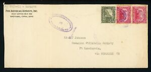 Nicaragua Postal History: LOT #23 1931 5c MANAGUA - FT. KAMEHAMEHA HAWAII $$$