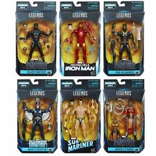 "HASBRO MARVEL LEGENDS 6'' BLACK PANTHER SET of 6+1 FIGURE BAF ""OKOYE"" 2018"