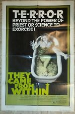 "1976 THEY CAME FROM WITHIN / SHIVERS 27x41"" 1-SH Movie Poster FN+ 6.5 Lynn Lowry"