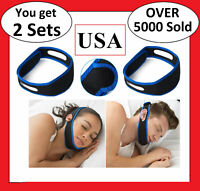 2X Stop Snoring Chin Strap Anti Snore Sleep Apnea Belt Device Solutions Jaw