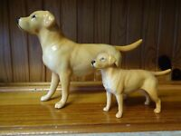 LARGE & SMALL BESWICK PORCELAIN GOLDEN LABRADOR DOGS  PET