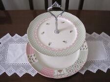 BEAUTIFUL ROBERT GORDON STITCHES TWO TIER CAKE STAND ~ HIGH TEA