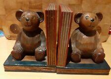 Wooden Bear Bookends