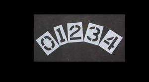 NEW! Rae Stl-116-8120 Pavement Stencil, 12 In, Number Kit, 1/16