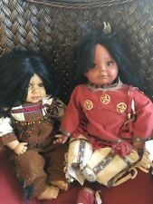 The Broadway Collection Vinyl Originals Native American Dolls Boy & Girl  21""