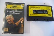 BRAHMS SYMPHONY N°4 WIENER PHILHARMONIKER LEONARD BERNSTEIN K7 AUDIO TAPE DGG.
