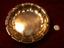 """NEAT OLDER VTG 1975 SILVERPLATED DISH """"FRANKLIN COUNTY FOOD STAMP OFFICE"""" - VGC"""
