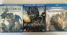 Transformers Blu Ray Collection. 3 Films