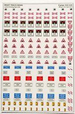 N gauge BR Level Crossing Signs, Road signs, N scale level crossing signs
