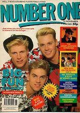 Big Fun on Magazine Cover 15 November 1989   New Kids On The Block   Wendy James