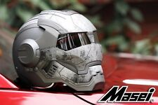 MASEI 610 MATTE GREY US ARMY METAL SCAR MOTORCYCLE BIKE CHOPPER IRONMAN HELMET