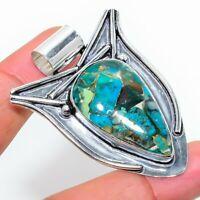 "Copper Azurite 925 Silver Handmade Gemstone Jewelry Pendant 1.97""AD-5934"
