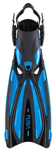 Tusa Solla SF22 Fin Open Heel All Sizes for Scuba Snorkeling Fish Tail Blue