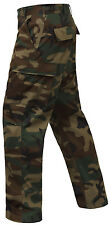 tactical bdu pants woodland camo cargo military style trousers rothco 7941