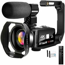 4K Video Camera Camcorder with Microphone 30FPS 48MP Vlogging Camera