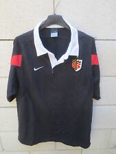 VINTAGE Maillot Polo rugby STADE TOULOUSAIN Nike coton shirt manches courtes L