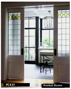 Beautiful Heritage Stained glass Pocket doors PCA 31