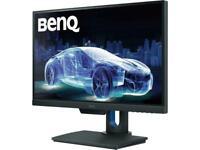 """BenQ PD2500Q 25"""" Quad HD 2560 x 1440 2K 4ms HDMI DisplayPort Mini-DisplayPort Bu"""