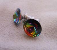 Silver Deer HYPOALLERGENIC Crystal Stud Earrings Lead and Nickel Safe Vitrail