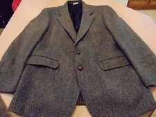 Harris Tweed Herringbone Blazer Jacket 44R  433784 100% Scottish Wool GUC-EXC