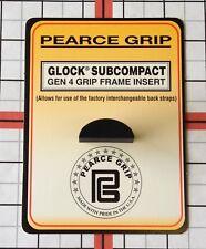 Pearce Grip Frame Insert Plug fits Glock Model 26 27 33 39 Gen 4 PG-G4SC
