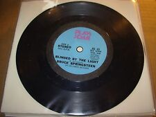 """BRUCE SPRINGSTEEN blinded by the light ( rock ) 7"""" / 45 - play back PROMO -"""