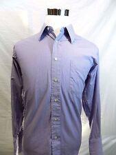 Hart Schaffner Gold Size 15.5 Men's Shirt Purple Check Long Sleeve Button Front