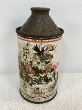 1940's Moosehead Pale Ale Cone Top Beer Can Canada Brewery Sign Empty Read Descr