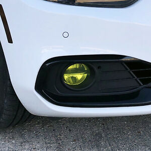 FOR 14-20 BMW 4 Series Gran Coupe Foglight YELLOW PreCut Vinyl Tint Overlays JDM