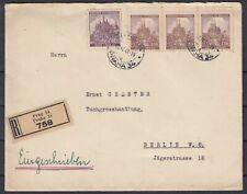 German Reich 1941 ☀ Bohemia & Moravia ☀ cover registered mail Prague to Berlin