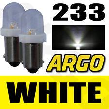 2 x 233 BA9S T4W Xenon Led Blanco Bombillas intermitente lateral ISUZU Soldado