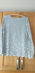 PER UNA SILVER GREY LINED LONG SLEEVED TOP SIZE 12 BRAND NEW