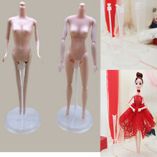 LOT OF 8 BARBIE DOLL CLEAR ROUND BASE COLLECTOR GRIP STANDS