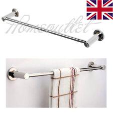57cm Single Shelf Rail Polished Chrome Bathroom Towel Rack Bath holder Radiator